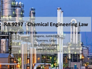 RA 9297 : Chemical Engineering Law