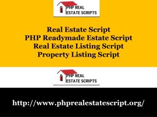 PHP Readymade Estate Script