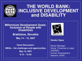 THE WORLD BANK: INCLUSIVE DEVELOPMENT and DISABILITY