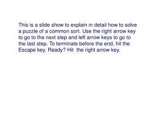 Hit the right arrow key to continue.