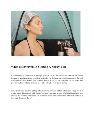 What Is Involved In Getting A Spray-Tan