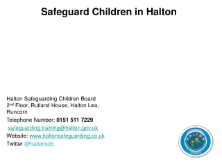 Safeguard Children in Halton