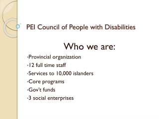 PEI Council of People with Disabilities