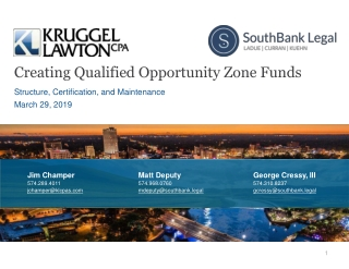 Creating Qualified Opportunity Zone Funds