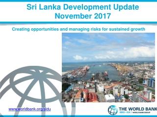 Sri Lanka Development Update November 2017