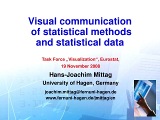 Visual communication of statistical methods and statistical data