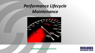 Performance Lifecycle Maintenance