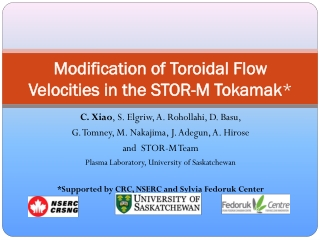 Modification of Toroidal Flow Velocities in the STOR-M Tokamak *