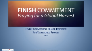 Finish Commitment Prayer Resource For Unreached Peoples NO 33