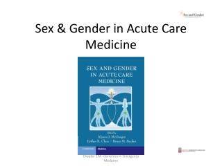 Sex & Gender in Acute Care Medicine