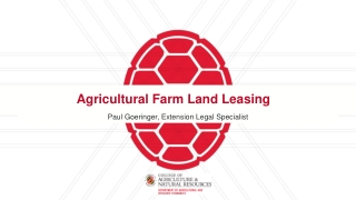 Agricultural Farm Land Leasing