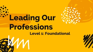 Level 1: Foundational