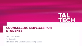 COUNSELLING SERVICES FOR STUDENTS