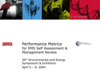 Performance Metrics for EMS Self Assessment  Management Review