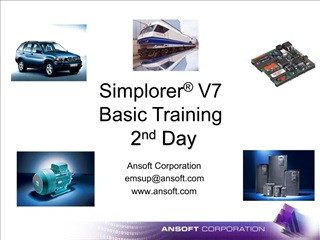 Simplorer  V7 Basic Training  2nd Day