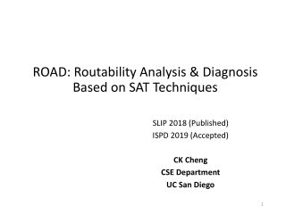 ROAD: Routability Analysis & Diagnosis Based on SAT Techniques