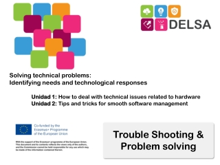 Trouble Shooting & Problem solving