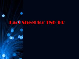 Fact Sheet for TNK-BP