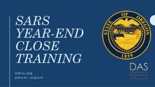 Sars year-end close training