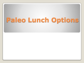 Paleo Lunch Options
