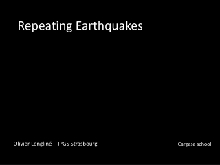 Repeating Earthquakes