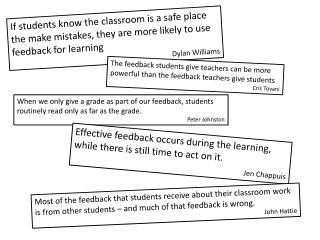 The feedback students give teachers can be more powerful than the feedback teachers give students