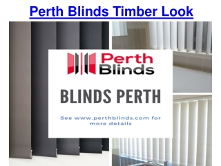 Perth Blinds Timber Look