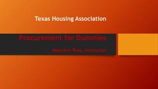 Texas Housing Association