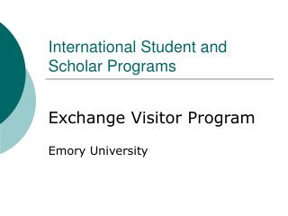 International Student and Scholar Programs