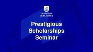 Prestigious Scholarships Seminar