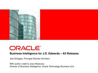 Business Intelligence for J.D. Edwards – All Releases