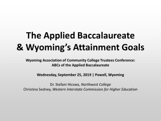 Educational Attainment Executive Council Charge
