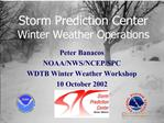 SPC Mesoscale Winter Weather Operations