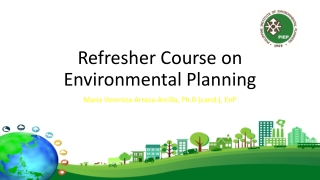 Refresher Course on Environmental Planning
