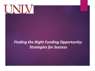 Finding the Right Funding Opportunity: Strategies for Success