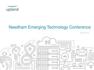 Needham Emerging Technology Conference