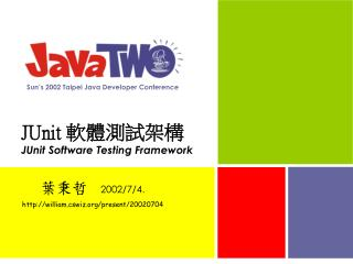 JUnit  軟體測試 架構 JUnit Software Testing Framework