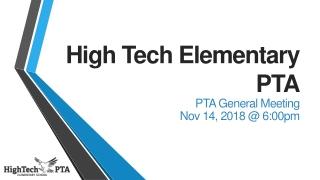High Tech Elementary PTA