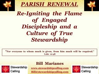 Bill Marianes stewardshipcalling Bill@stewardshipcalling