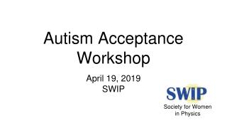 Autism Acceptance Workshop
