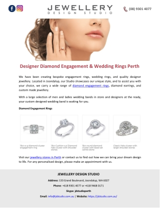 Designer Diamond Engagement & Wedding Rings Perth