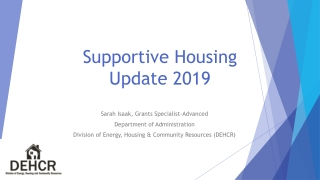 Supportive Housing Update 2019
