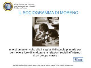IL SOCIOGRAMMA DI MORENO