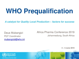 WHO Prequalification