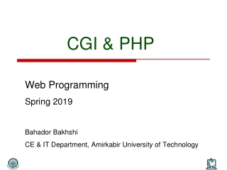 CGI & PHP