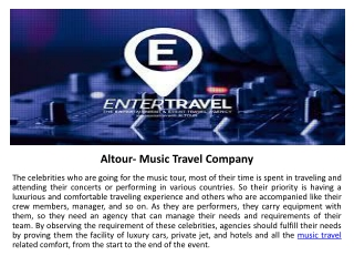 Altour- Music Travel Company