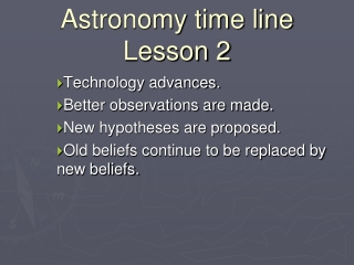 Astronomy time line Lesson 2