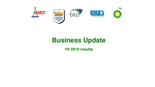 Business Update 1 H 201 9 results