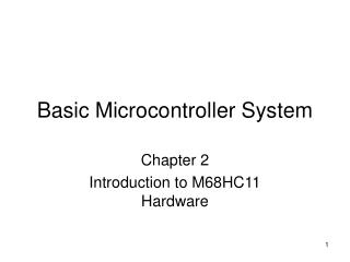 Basic Microcontroller System
