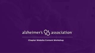 Chapter Website Content Workshop